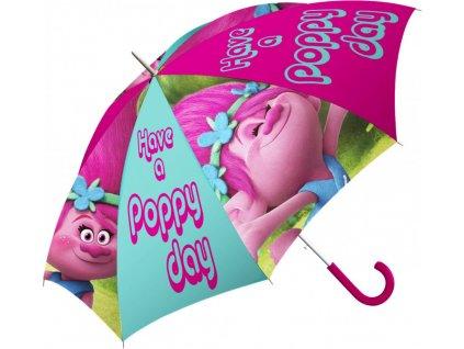 Detský dáždnik Trolovia - Poppy 69 cm