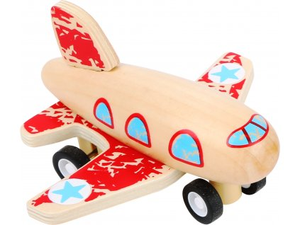 Small Foot Červené lietadlo na natiahnutie