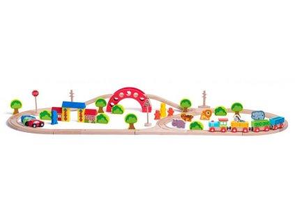 Woody - Vláčiková dráha Zoo 60 dielov