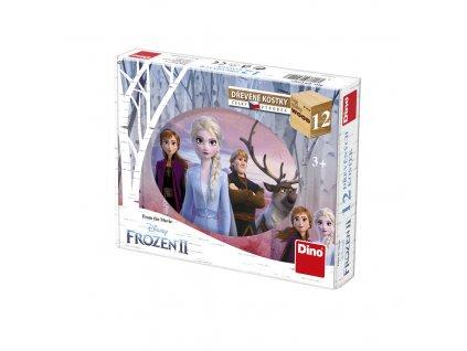 Dino Drevené kocky Frozen II. - 12 kociek
