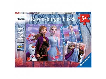 Ravensburger puzzle Frozen II 3 x 49 dielikov