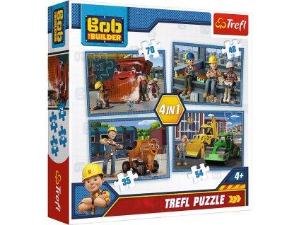 Trefl puzzle Bob Staviteľ 4v1  sada