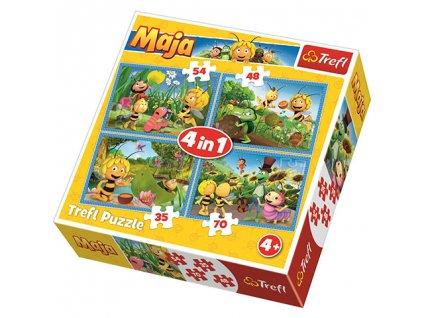 Trefl puzzle Včielka Maja 4v1 sada