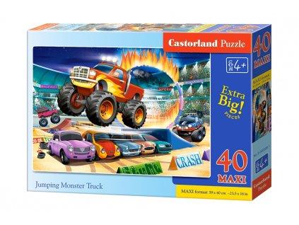 Castorland MAXI puzzle Jumping Monster Truck 40 dielikov