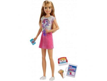 Mattel Barbie - Skipper babysitter v tričku s jednorožcom