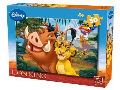 King puzzle Leví kráľ 50 dielikov