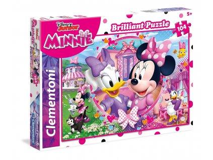 Clementoni brilliant puzzle Minnie 104 dielikov