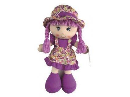 Dino Trading Handrová bábika fialová 35 cm
