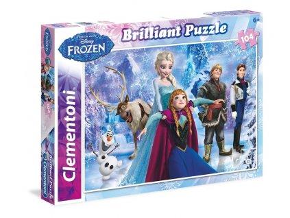 Clementoni brilliant puzzle Frozen 104 dielikov