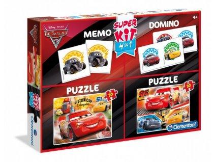 Clementoni Super Kit - Cars 3 - 2x puzzle + domino + pexeso