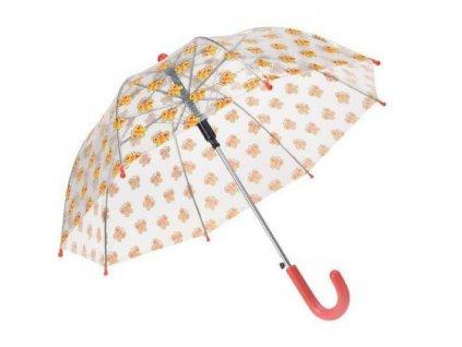 Detský transparentný dáždnik Motýle 58 cm