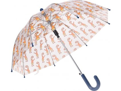 Detský transparentný dáždnik Opice 58 cm