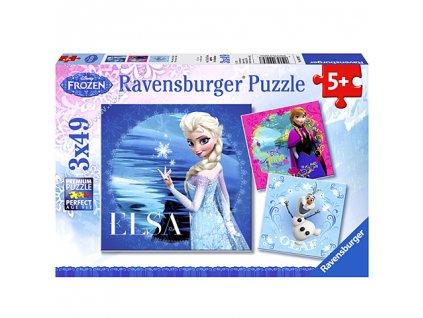 Ravensburger puzzle Ľadové kráľovstvo 3 x 49 dielikov