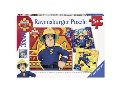 Ravensburger puzzle Požiarnik Sam 3 x 49 dielikov