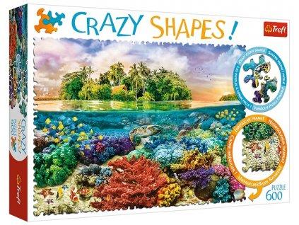 Trefl puzzle Crazy Shapes Tropický Ostrov 600 dielikov