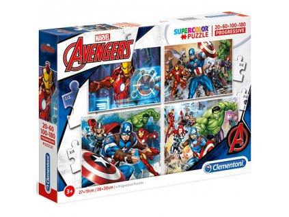 Clementoni puzzle Marvel Avengers sada 4v1