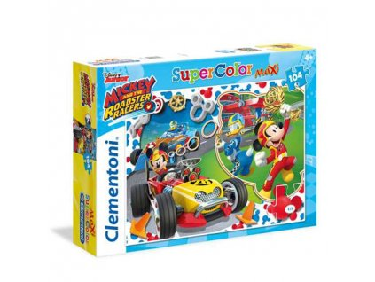 Clementoni Maxi puzzle - Mickey a závodníci 104 dielikov