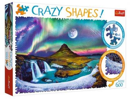 Trefl puzzle Crazy Shapes Polárna Žiara 600 dielikov