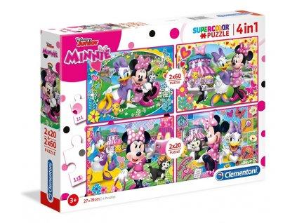 Clementoni puzzle Minnie a Daisy sada 4v1
