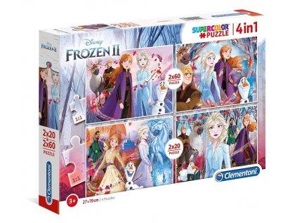 Clementoni puzzle Frozen 2 sada 4v1