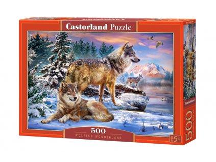 Castorland puzzle - Krajina vlkov 500 dielikov