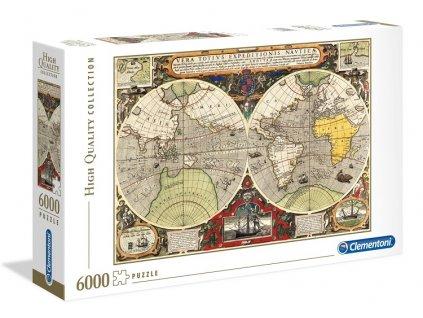 Clementoni puzzle Historická mapa sveta 6000 dielikov
