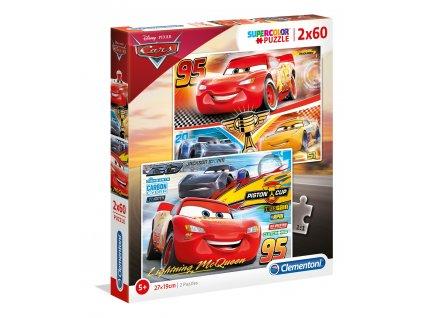 Clementoni puzzle Cars 3 sada 2x60 dielikov