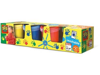 SES Creative - Prstové farby základný set 4 x 145 ml