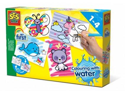 SES Creative Prvé Maľovanie vodou a štetcom