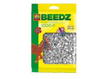 SES Creative Zažehlovacie korálky, 1000 ks šedá