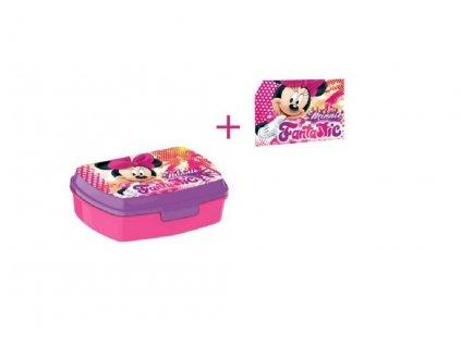 Desiatový box Minnie + uteráčik
