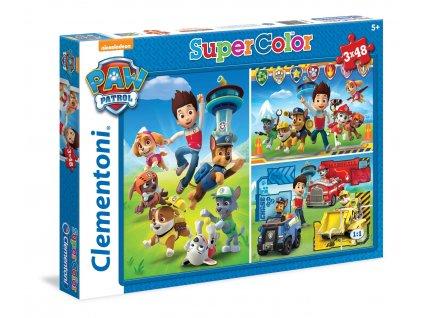 Clementoni puzzle Paw Patrol sada 3 x 48 dielikov
