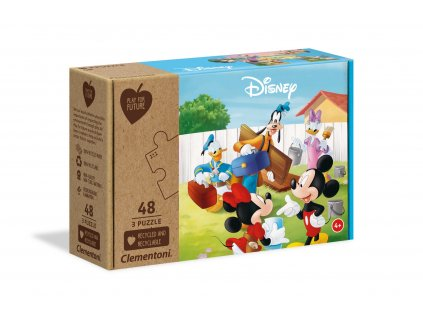 Clementoni puzzle Mickey Mouse 3 x 48 dielikov