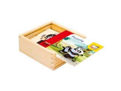 Bino Krtko a Panda - Drevené puzzle 4 x 4 dieliky