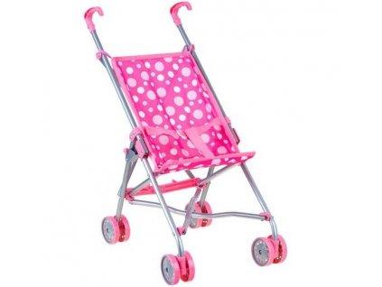 Detský golfový kočík pre bábiky - ružové bodky