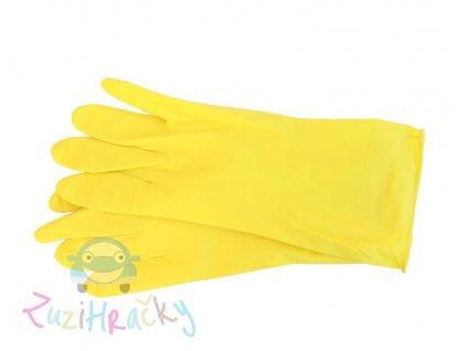 AR Home - Latexové rukavice - žlté veľkosť M 10 kusov