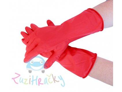 AR Home - Latexové rukavice - červené veľkosť M 10 kusov