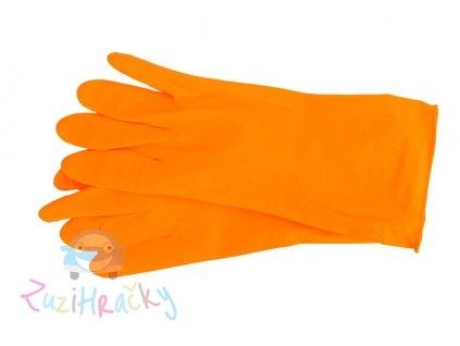AR Home - Latexové rukavice - oranžové veľkosť L
