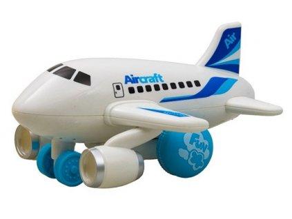 Hola Malé lietadlo jazdiace so svetlom a hudbou (biele)