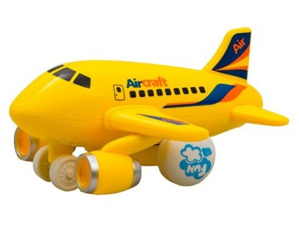 Hola Malé lietadlo jazdiace so svetlom a hudbou (žlté)