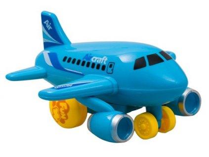 Hola Malé lietadlo jazdiace so svetlom a hudbou (modré)