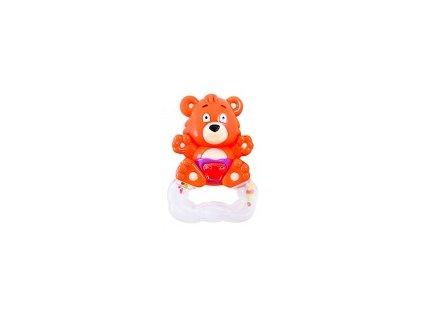 Hrkálka Medveď - oranžový