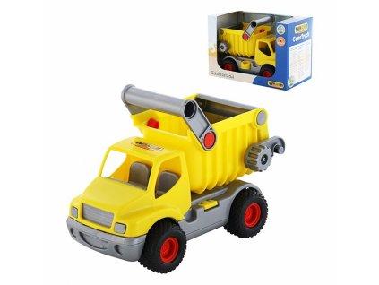Wader Auto ConsTruck Sklápač žltý  18 cm