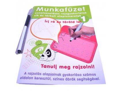 D-Toys - Maďarský pracovný zošit so stieracou fixkou