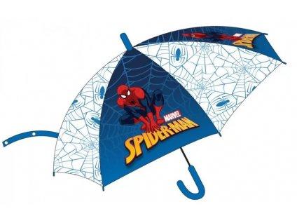 Detský dáždnik Spiderman 73 cm transparentný