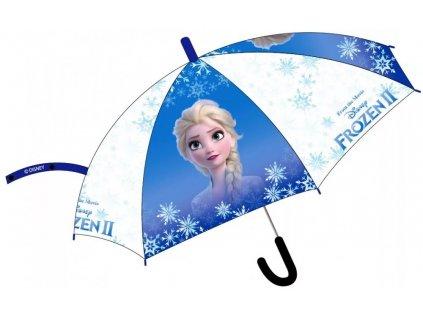 E plus M Transparentný dáždnik Elsa 73 cm modrý