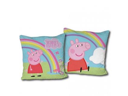 Jerry Fabrics vankúšik Peppa Pig a dúha 40 x 40 cm