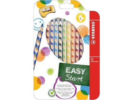 Stabilo EASYcolors farbičky sada 12 ks pre ľavákov