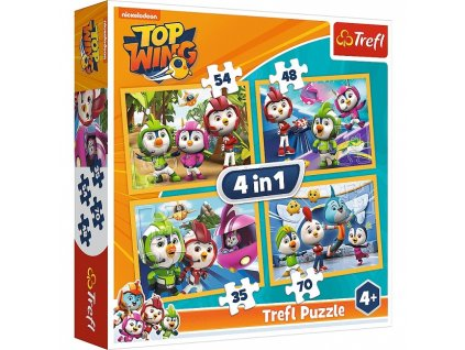 Trefl puzzle Top Wing sada 4v1