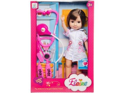 Bábika Elaine doktorka - 32 cm